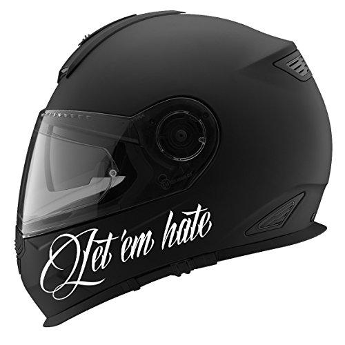 Let 'Em Hate Auto Car Racing Motorcycle Helmet Decal - 5