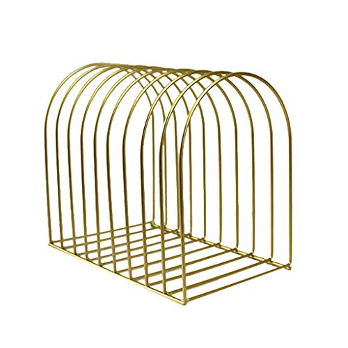 NewKelly Durable File Organizer Wrought Iron Book Stand Storage Folding Stationery Student Dome B