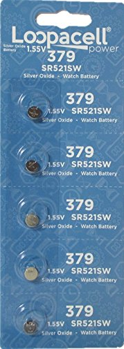 loopacell-379-button-cell-silver-oxide-sr521sw-watch-battery-1-pack-of-5-batteries