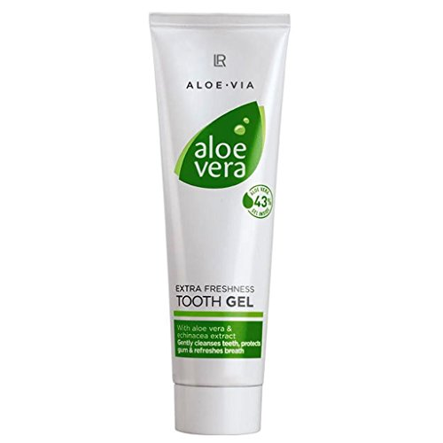 Aloe Vera Tooth Gel - Extra Freshness Flouride-Free Toothpaste by LR of Germany - 100 Ml - Active dental cleaning with ()