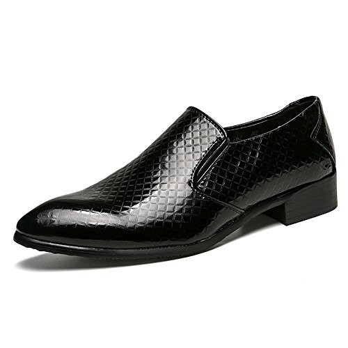 Mens Formal Fashion Oxford Microfibra in Scarpe da Cricket Pelle Nero Scarpe Classic in wq10Awr