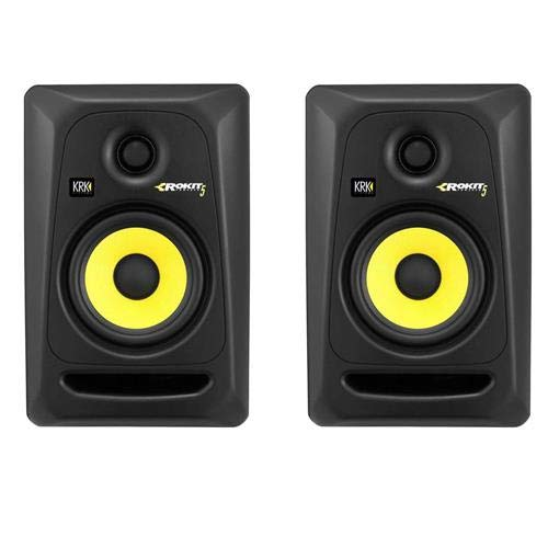 "KRK Rokit 2 Pack 5 G3 5"" Two-Way Active Studio Monitor Speaker, 45Hz-35kHz, Single, Black"