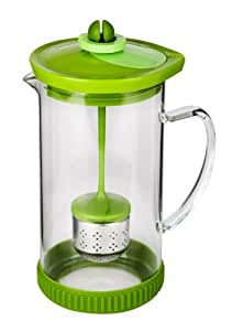 Cuisaid Duo Convertible French Press Coffee Maker & Tea Infuser (Borosilicate Glass / Green)