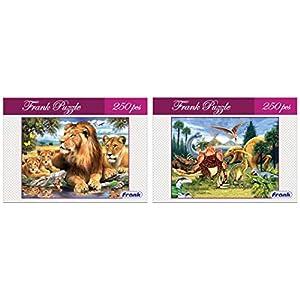 Frank Lion Family Puzzle, Multicolor...