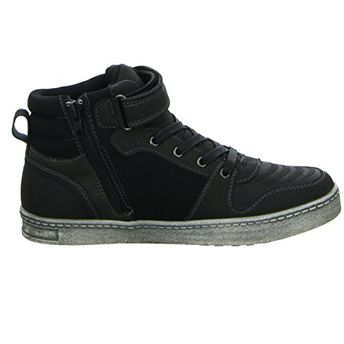 De Jovem Zip 65 Sapatos Preto 461 Crianças Tênis Alinhada Alta Sneakers tHqxOaHZ