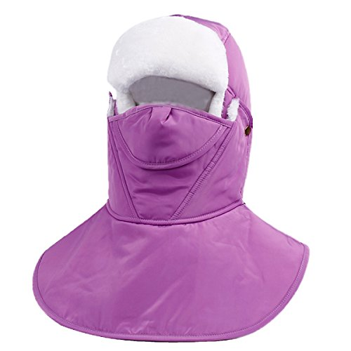 De Viento SOOCO Prueba Máscara A Máscara Mens Warm LightPurple Flap De A Classic Viento Winter Warm Bomber Hat Snow Winter Ear Prueba FazrqwTF