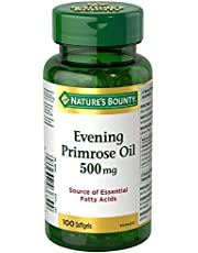 Nature's Bounty Evening Primrose Oil Pills, Supplement, Source of Essential Fatty Acids, 500mg 100 Softgels