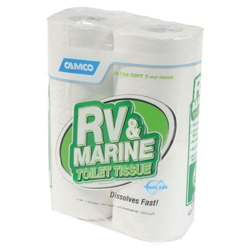 Camco 40275 1 Ply 4PK 1Ply RV Toil Tissue 4 Pack