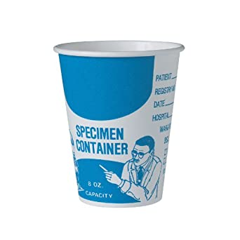 "SOLO SC378-3008 Single Poly Paper Medical Cup, 8 oz. Capacity, 3.7"" x 3.2"", White (Case of 1,000)"