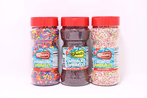 Sprinkles Chocolate,Rainbow Sprinkles,Nonpareils,Set,Party Sets Baking