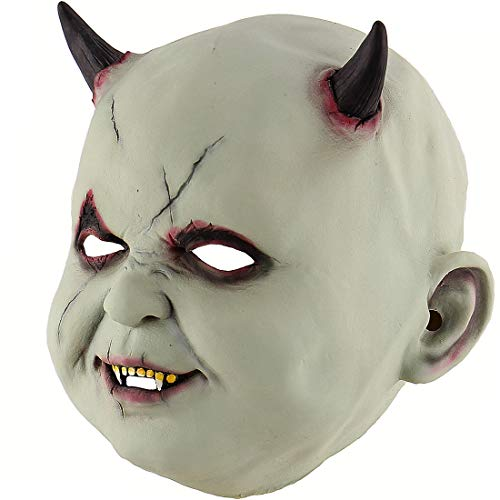 Xiao Chou Ri Ji Halloween Latex Head Masks Gruesome Zombie Costume Cosplay Props Vampire Doll -