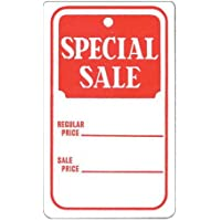 """Set of 1000 New Red//White Special sale Price Tag 1-3//4/""""W x 2-7//8/""""H"""