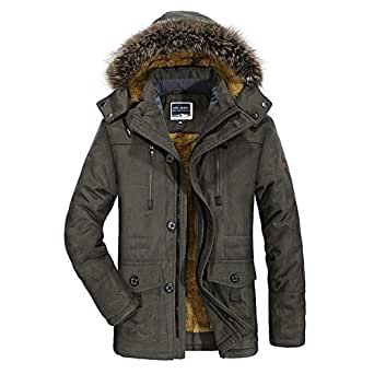 Winter Jacket Thickening Warm Windproof Jacket Men's
