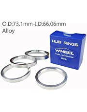 WHEEL CONNECT Hub Centric Rings, Set of 4, Aluminium Alloy Hubrings, O.D:73.1 or O.D:74.0mm I.D 54.1,56.15,56.60,57.10 to 72.56mm.