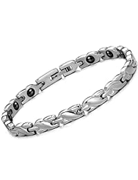 Womens Titanium Magnetic Therapy Link Bracelet With Magnets