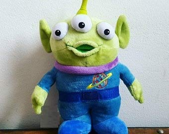 PAPWELL Alien Toys 11 inch Little Green Men Toy Story Disney Pixar Big Plush Birthday Gift Decoration Large Stuffed Animal Collectable Gifts Christmas Halloween Cute Collectibles Collectible for Kids
