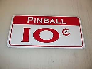 Pinball 10Centavos Metal Sign Casino Slot Machine rojo