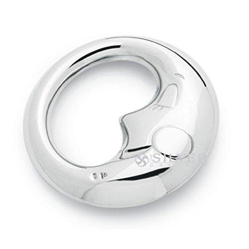 Krysaliis Sterling Silver Baby Rattle, (Sterling Silver Rattle)