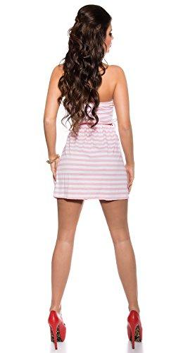 In-Stylefashion - Vestido - Top corto - para mujer Rosa Talla única