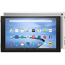 """Certified Refurbished Fire HD 10 Tablet, 10.1"""" HD Display, Wi-Fi, 16 GB - Includes Special Offers, White (Previous Generation - 5th)"""