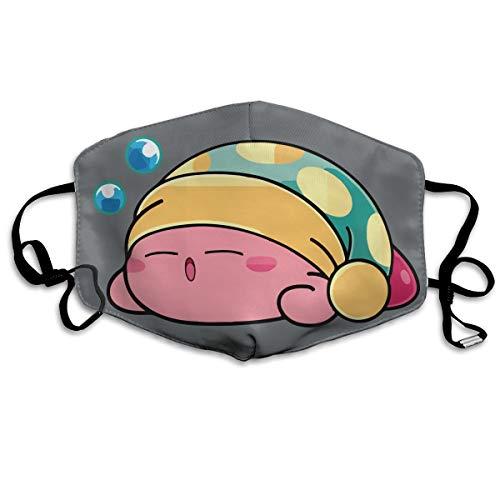 SyjTZmopre Funny Cute Sleeping Kirby Mouth Mask Unisex Printed Fashion Face Anti-dust Masks ()