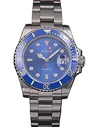 40mm Blue Dial Ceramic Bezel Luminous Sapphire Glass Japan Miyota 8215 Automatic Movement Men's Watch