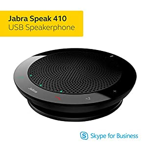 Jabra Speak 410 Speaker Phone – Microsoft Certified Portable Conference Speaker with USB – Plug-And-Play Connectivity with Computers