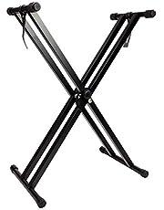$46 » RockJam Adjustable Keyboard Stand with Locking Straps & Quick Release Mechanism