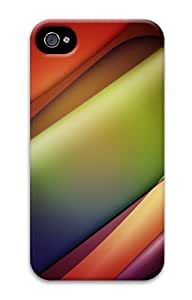 iPhone 4S Case, iPhone 4S Cases - Line Glow Waves Polycarbonate Hard Case Cover for iPhone 4/4S