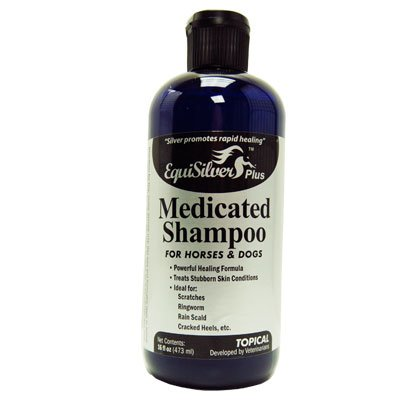 Medicated Shampoo (16 oz) with Chelated Silver, Veterinarian Formulated, Rapid Healing for Several Skin Issues. Cuts, Scrapes, Bacteria and Fungal Infections, Dry Itchy Skin. Silver Kills a Broad Spectrum of (Medicated Horse Shampoo)