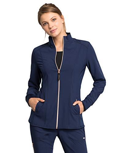 - Cherokee Statement CK365 Women's Zip Front Jacket Navy M