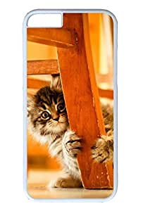 6 plus Case, iPhone 6 plus Case - New Fashion Covers for iPhone 6 plus You Crazy Little Kitten Perfect Fit Hard PC Cases for iPhone 6 plus White