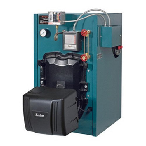 2.Burnham MST MegaSteam 3-Stage Oil Fired Boiler Less Tankless Coil, 1.05 gph, 95 MBH