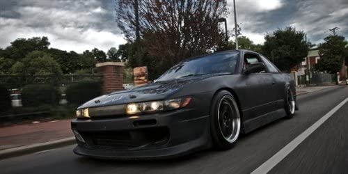 Poster of S15 Silvia 240sx 240 Left Front Red on WORK Wheels HD Super Car Print