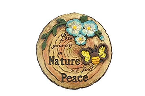 Woodland Cement Inspirational Stepping Stone (one stepping stone) Loose Yourself in Nature and find ()
