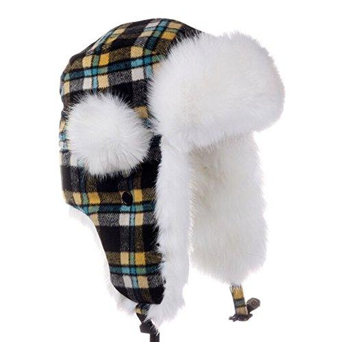 Men & Women Winter Plaid Hat Earmuffs Ski Hat Skiing (Plaid Pork Pie Hat)