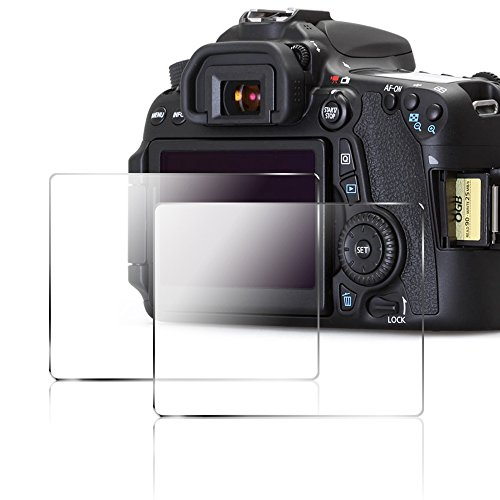 Camera Screen Protector for Canon 70D 80D, AFUNTA 2 Pack Anti-scratch Tempered Glass DSLR Camera