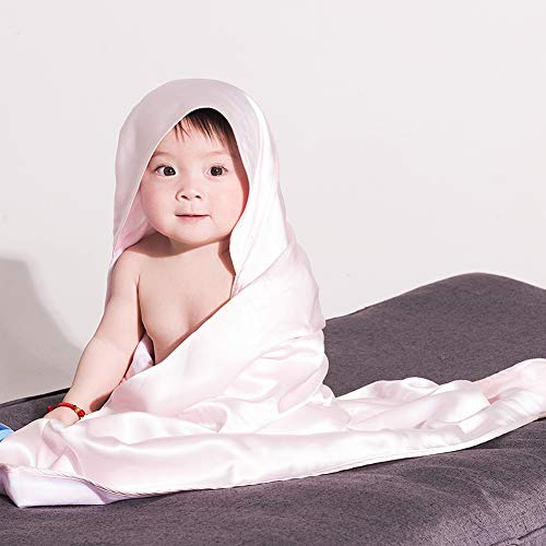 THXSILK Baby Blanket, Soft Warm Cozy Toddler, Infant or Newborn Receiving Silk Blanket for Crib, Stroller, Travel, Decorative and Outdoor, 35