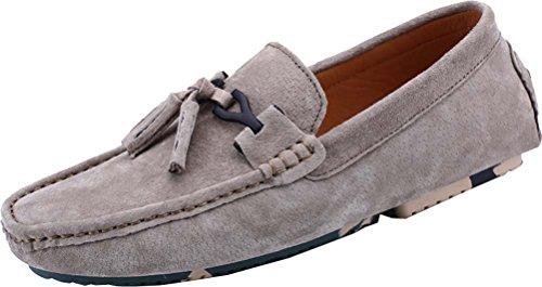 9836 Mens Comfort Stylish Casual Loafers Slip-on Work Driving Breathable Leather Shoes