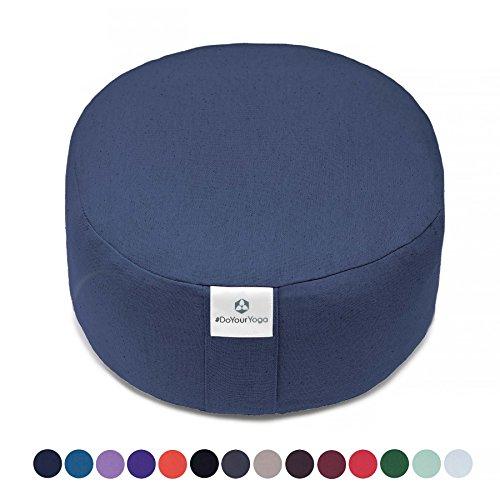 Rondo-Kissen »Sheela« / Klassisches Yoga Meditationskissen / 100% Baumwolle / 29 cm x 15m / Mitternachtsblau