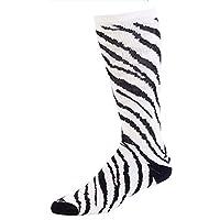 Pizzazz White Zebra Stripe Knee High Socks Cheer Dance Girl 8-Women 12