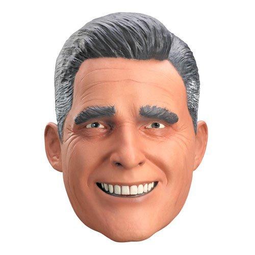 Disguise Mitt Romney Vinyl Mask, Tan/Black/White, Adult