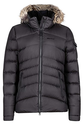 Marmot Ithaca Women's Down Puffer Jacket, Fill Power 700, Jet Black ,Medium