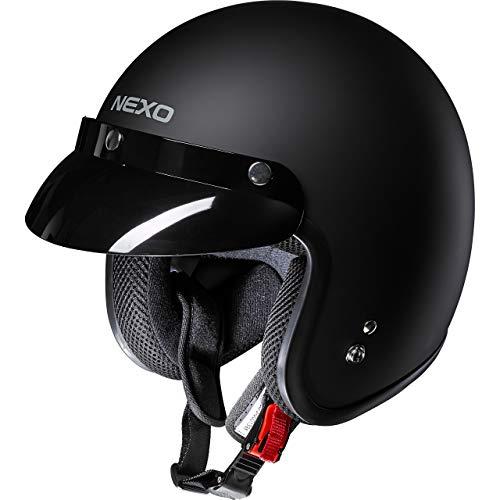 Nexo Jethelm Motorradhelm Helm Motorrad Mopedhelm Material: ABS, Innenausstattung: waschbar, 100% Polyester, Gewicht…