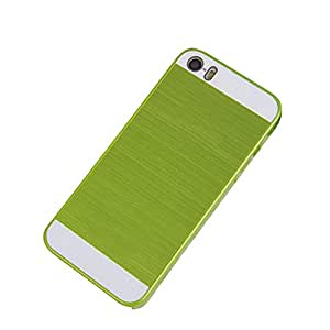 ZPS(TM) Frame Luxury Chrome Hard Back New Case Cover For iPhone 5 5s (Green)