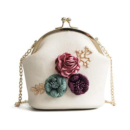 Freie Liebe Women Clutches Flower Evening Handbag Chain Strap Shoulder Bag