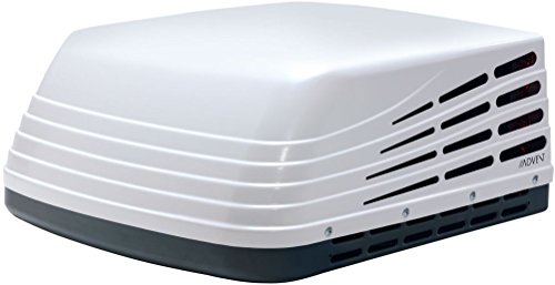 Advent ACM150 Rooftop Air Conditioner, White, 15000 BTUs, 115 Volt AC Power, Three Fan Speeds Installs; Premium, Thick, Watertight Vent Opening Gasket with Six Dense Foam Support Pads (Travel Trailer Air Conditioner)