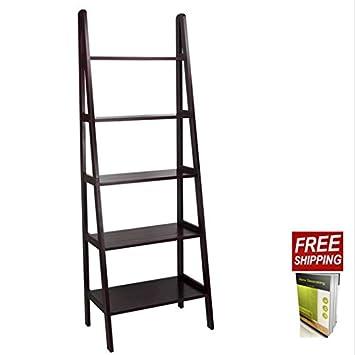 sale retailer b0bc4 b2fe2 Amazon.com: TSR Step Ladder Bookshelf Solid Wood Bookcase ...