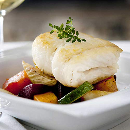 Wild Alaskan Halibut, 10 lbs Fresh Fish Frozen 8 oz. X 20 Portions Individually & Vacuum Packaged
