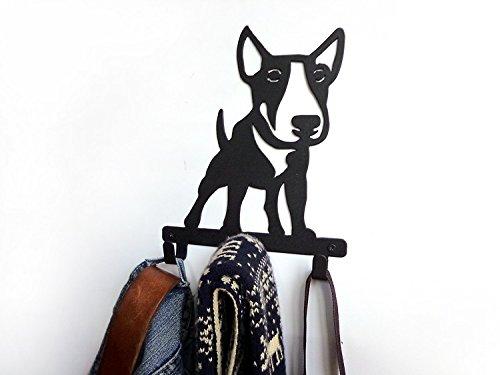 Frenchieフレンチ― ブルテリア bull terrier アイロンフック メタル壁掛け B06VX1N29H